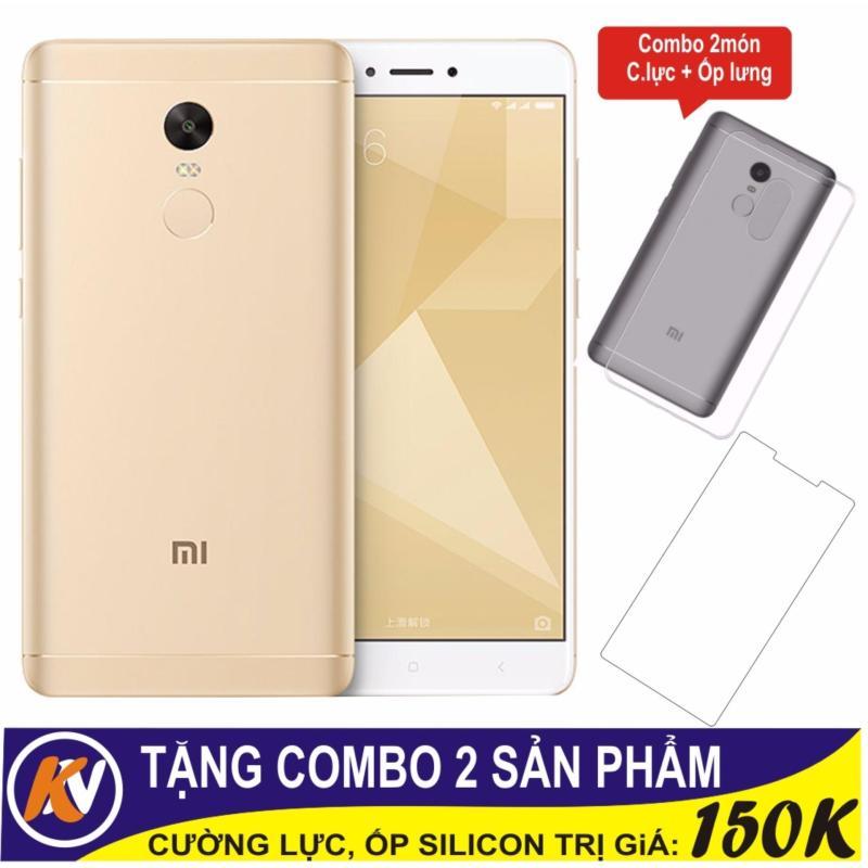 Xiaomi Note 4X 16GB Ram 3GB Kim Nhung (Vàng) + Cường lực + Ốp Silicon - Hàng nhập khẩu