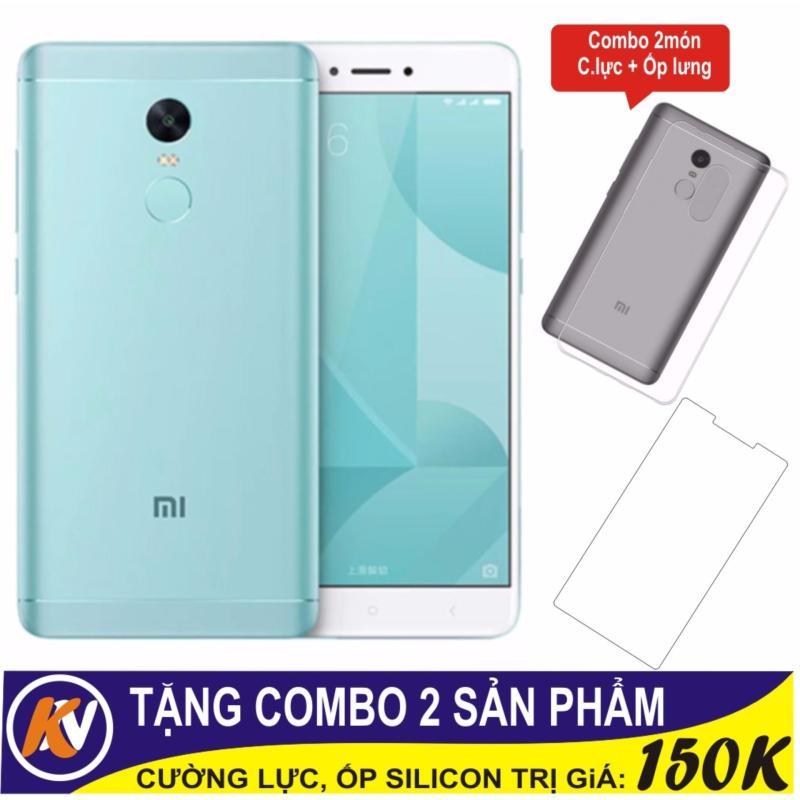 Xiaomi Note 4X 32GB Ram 3GB Kim Nhung (Xanh ngọc) + Cường lực + Ốp Silicon - Hàng nhập khẩu