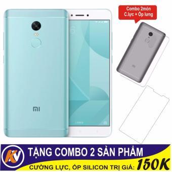 Xiaomi Note 4X 32GB Ram 3GB Kim Nhung (Xanh ngọc) + Cường lực + Ốp Silicon - Hàng nhập khẩu...