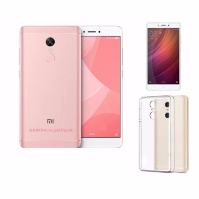 Xiaomi Note 4X Ram 3GB Rom 16GB (Hồng) + Ốp Lưng + Kính Cường Lực - Hàng nhập khẩu