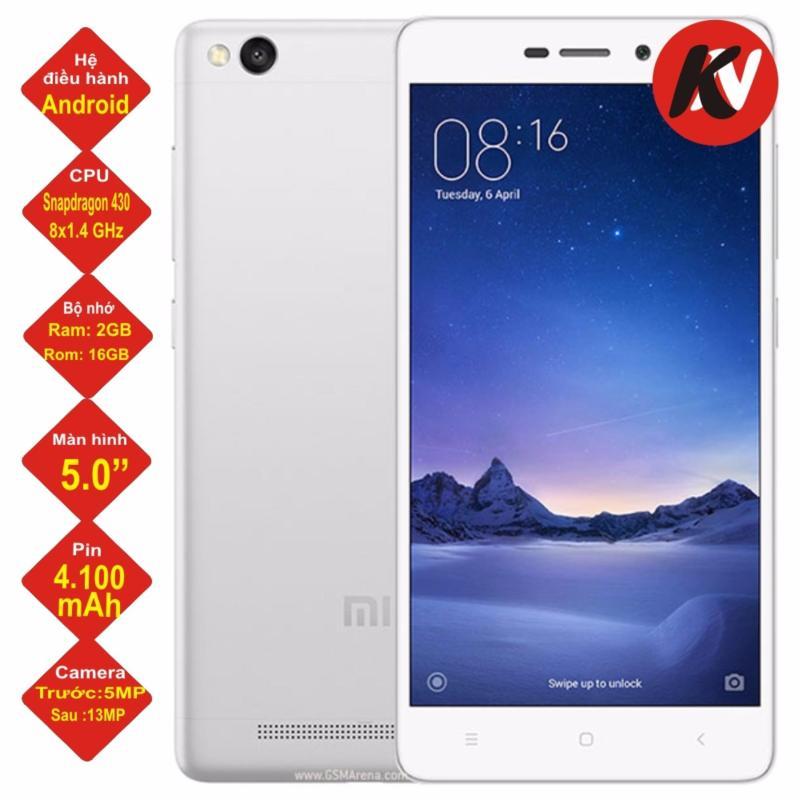 Xiaomi Redmi 3S 16GB RAM 2GB Khang Nhung (Trắng) - Hàng nhập khẩu
