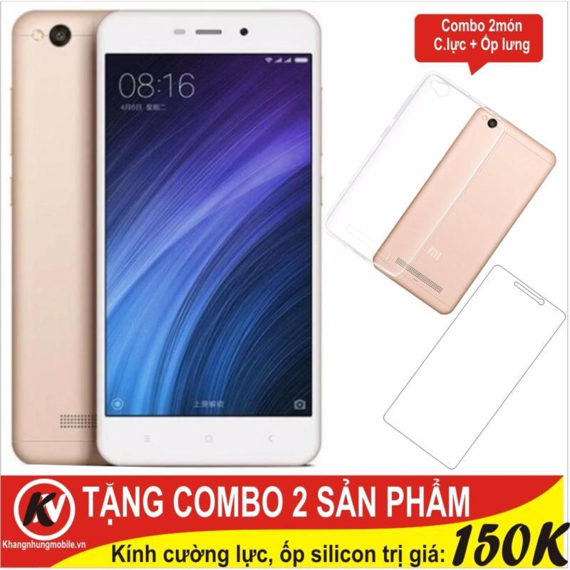 Xiaomi Redmi 4A 16GB Ram 2GB Khang Nhung (Vàng) + Cường lực + Ốp silicon trong suốt - Hàng nhập khẩu