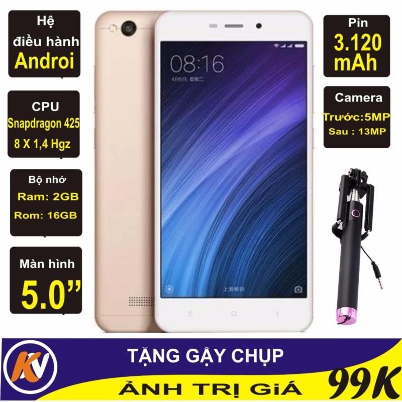 Xiaomi Redmi 4A 16GB Ram 2GB Kim Nhung (Vàng) - Hàng nhập khẩu