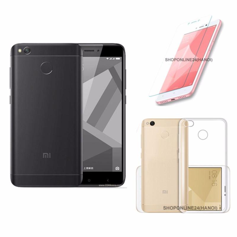 Xiaomi Redmi 4X 16GB (Đen tuyền)  Ốp Lưng + Kính Cường Lực - Hàng nhập khẩu
