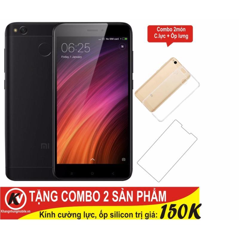 Xiaomi Redmi 4X 16GB Ram 2GB Khang Nhung (Đen) + Cường lực + Ốp silicon trong suốt - Hàng nhập khẩu