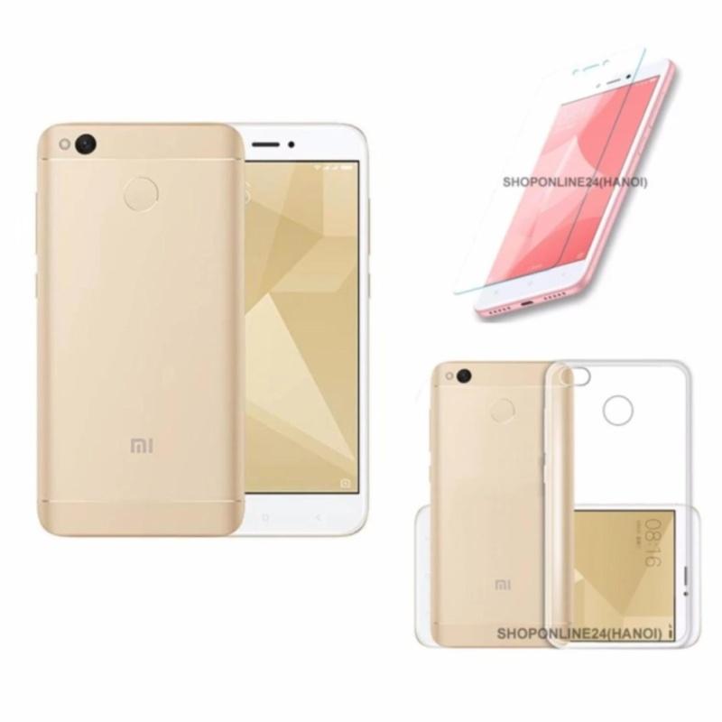 Xiaomi Redmi 4X 32GB Ram 3G (Vàng) + Ốp Lưng + Kính Cường Lực - Hàng nhập khẩu