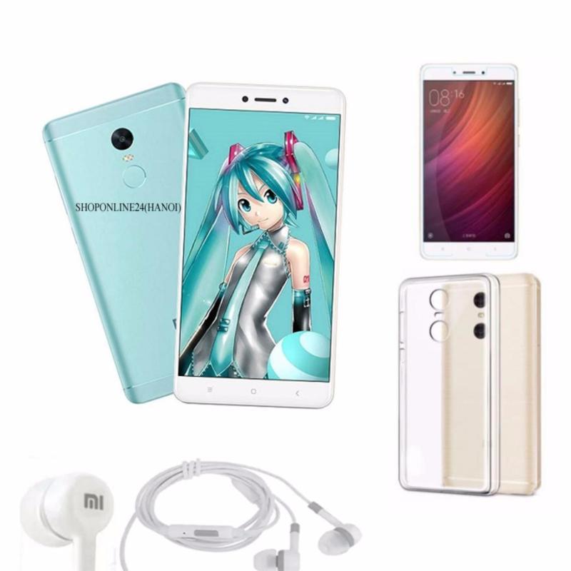Xiaomi Redmi Note 4X 32GB (Xanh) +Tai Nghe + Ốp Lưng + kính cường lực - Hàng nhập khẩu