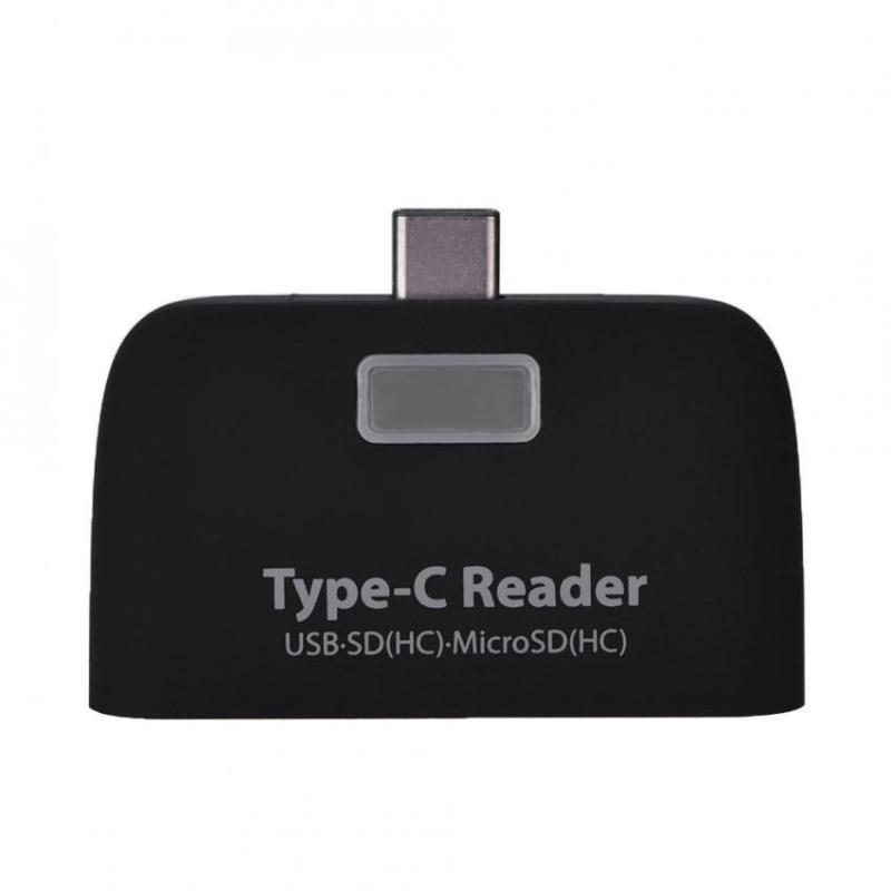 Bảng giá YOSOO USB3.1 Type-C to USB 2.0 OTG Hub SD / TF Micro Card Reader with Micro USB Port (Black) - intl Phong Vũ