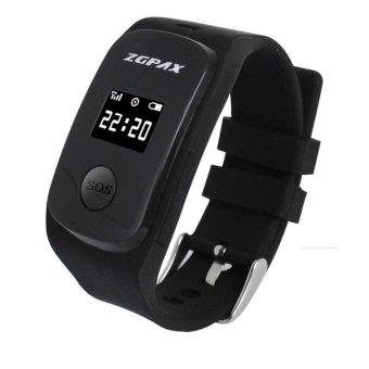 ZGPAX S22 Kids GPS Watch Anti-lost Smart Watch Watch PhoneWaterproof Smart Phone SIM Card TF Sport Tracker Wristwatch(Black)- intl