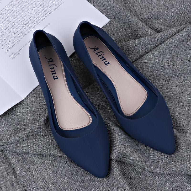 Giày bệt nữ, giày búp bê nữ nhựa dẻo đi mưa chống nước siêu tốt kèm clip thật nhé ạ (form nhỏ lấy tăng 1 size)