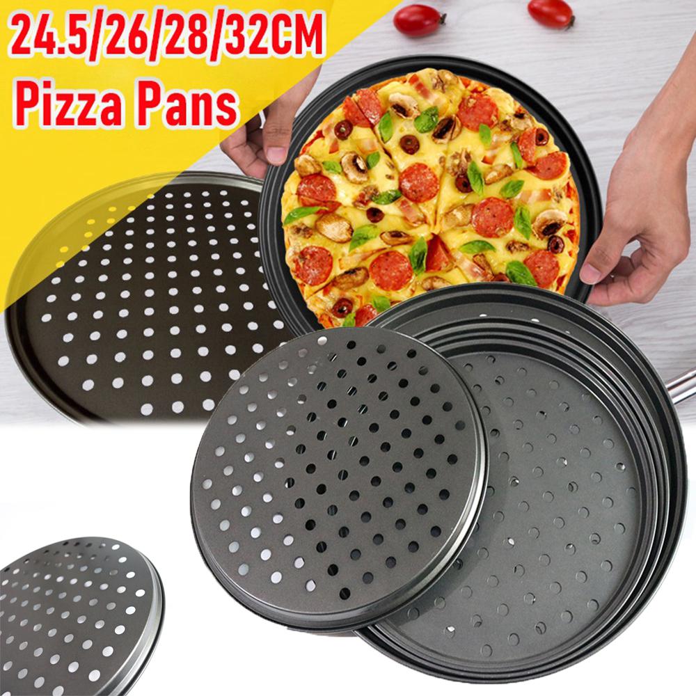 YEYUN Khay Nướng Bánh Bằng Thép Carbon Chuyên Nghiệp Khay Lưới Pizza Khay Nướng Bánh Kếp Đĩa Nướng Bánh Pizza Khay Nướng Bánh Pizza Khay Nướng Bánh Pizza