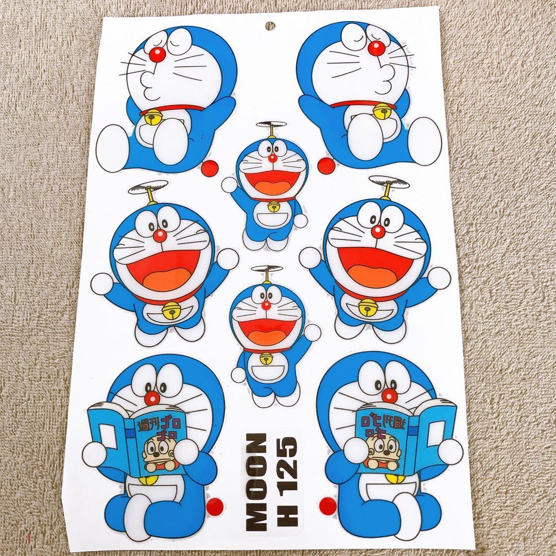[TEM TRANG TRÍ] Bộ tem trang trí, tem DOREAMON phủ nhựa nổi siêu dễ thương (kiểu chong chóng tre)