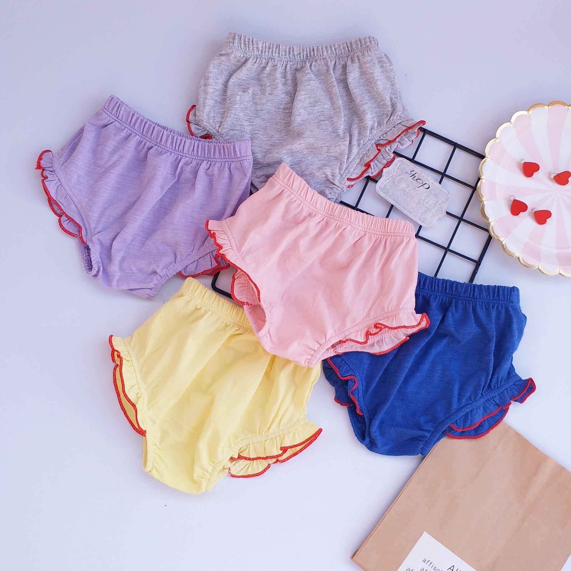 Quần chip cho bé gái - Combo 5 quần sản xuât bởi shop ONEFORALL - Có thể mặc được như quần chục đùi (Size sơ sinh)