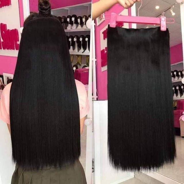 Tóc giả nữ kẹp FREESHIP kẹp thẳng dài 60cm 1