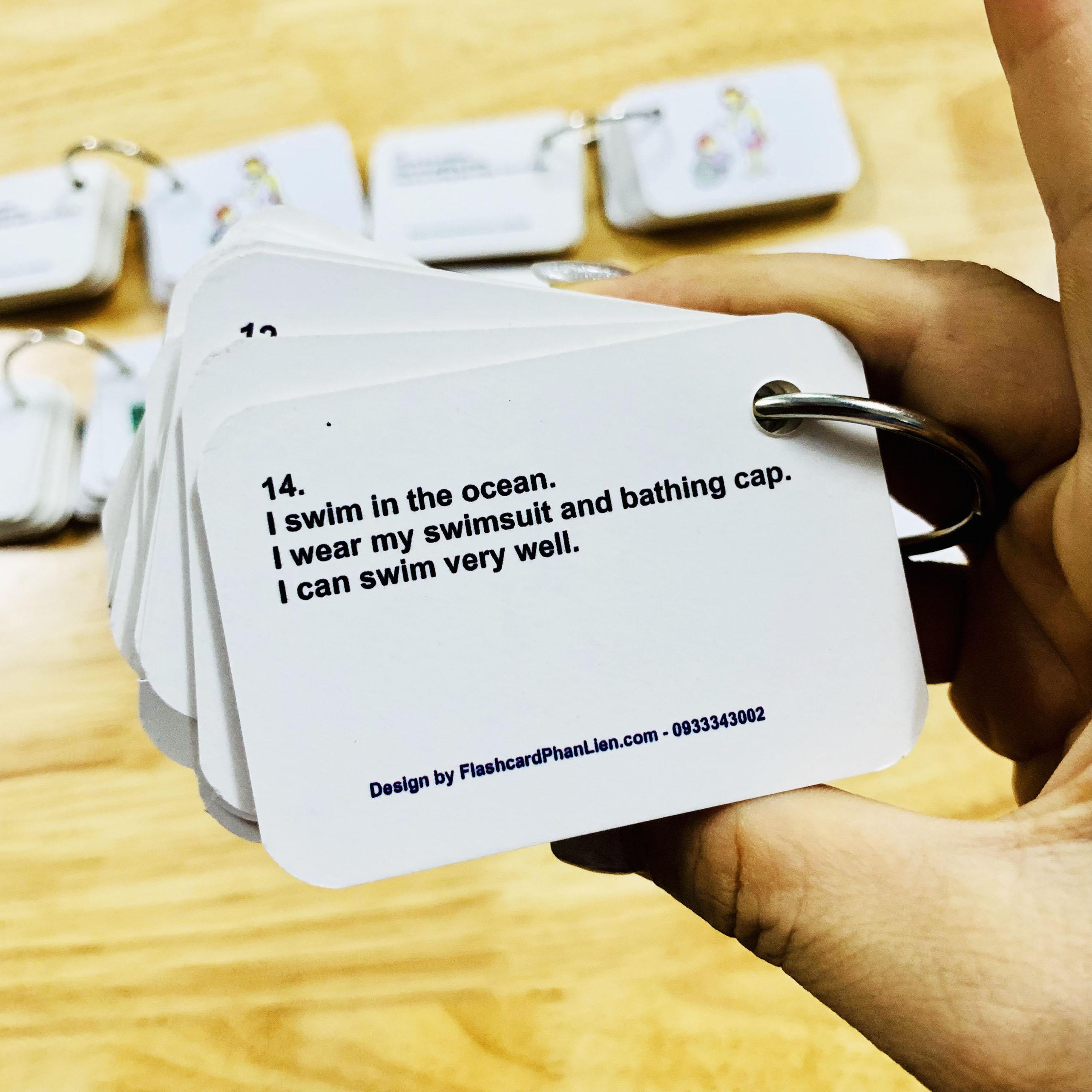 Flashcard 900 mẫu câu giao tiếp tiếng anh cùng con hằng ngày kèm file nghe 3