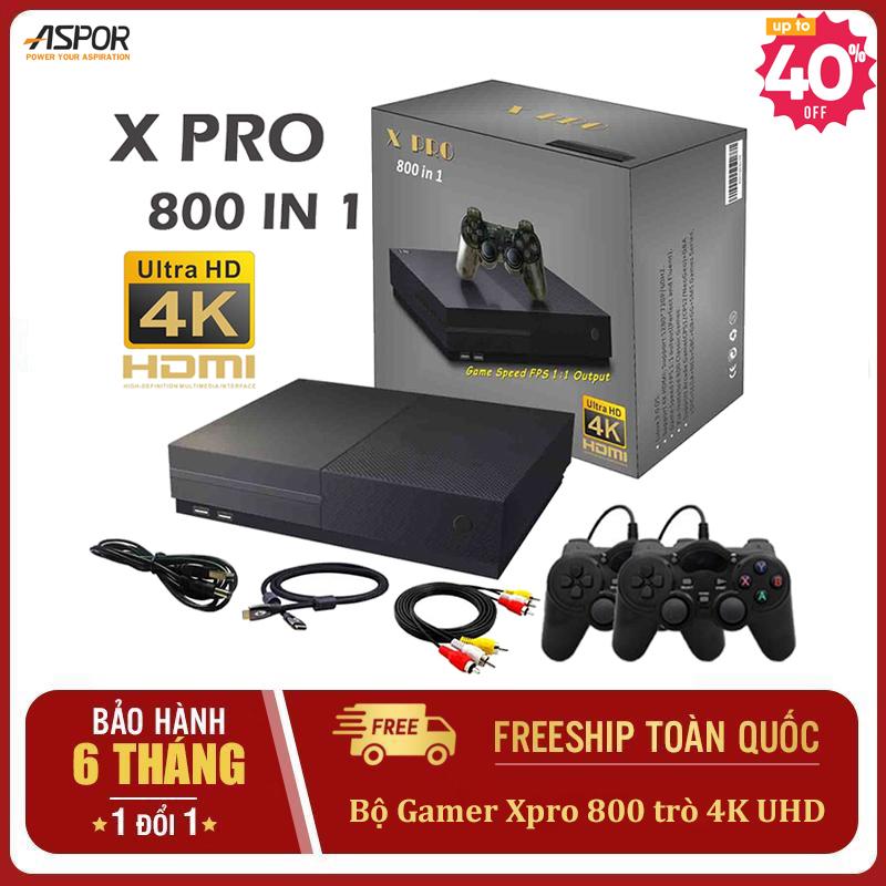 Hình ảnh Máy chơi game 4 nút Xpro 800 trò tay cầm joystick Hỗ trợ phân giải lên 4k HDR Hỗ trợ kết nối thẻ nhớ- Doanh Số Bán Chạy Nhất Retro PS - Máy chơi game kết nối tivi 2 người chơi nhiều Máy chơi game nintendo switch PSP
