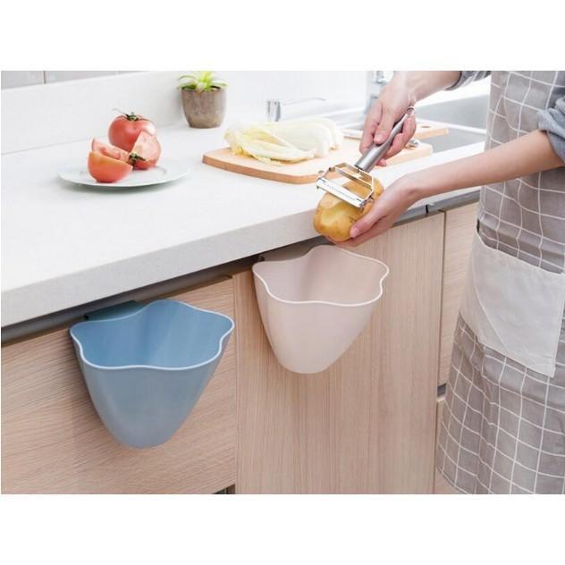 Hình ảnh Giỏ rác thông minh, sọt rác mini cài cánh cửa tủ bếp, Giỏ đựng rác dụng cụ nhà bếp thông minh