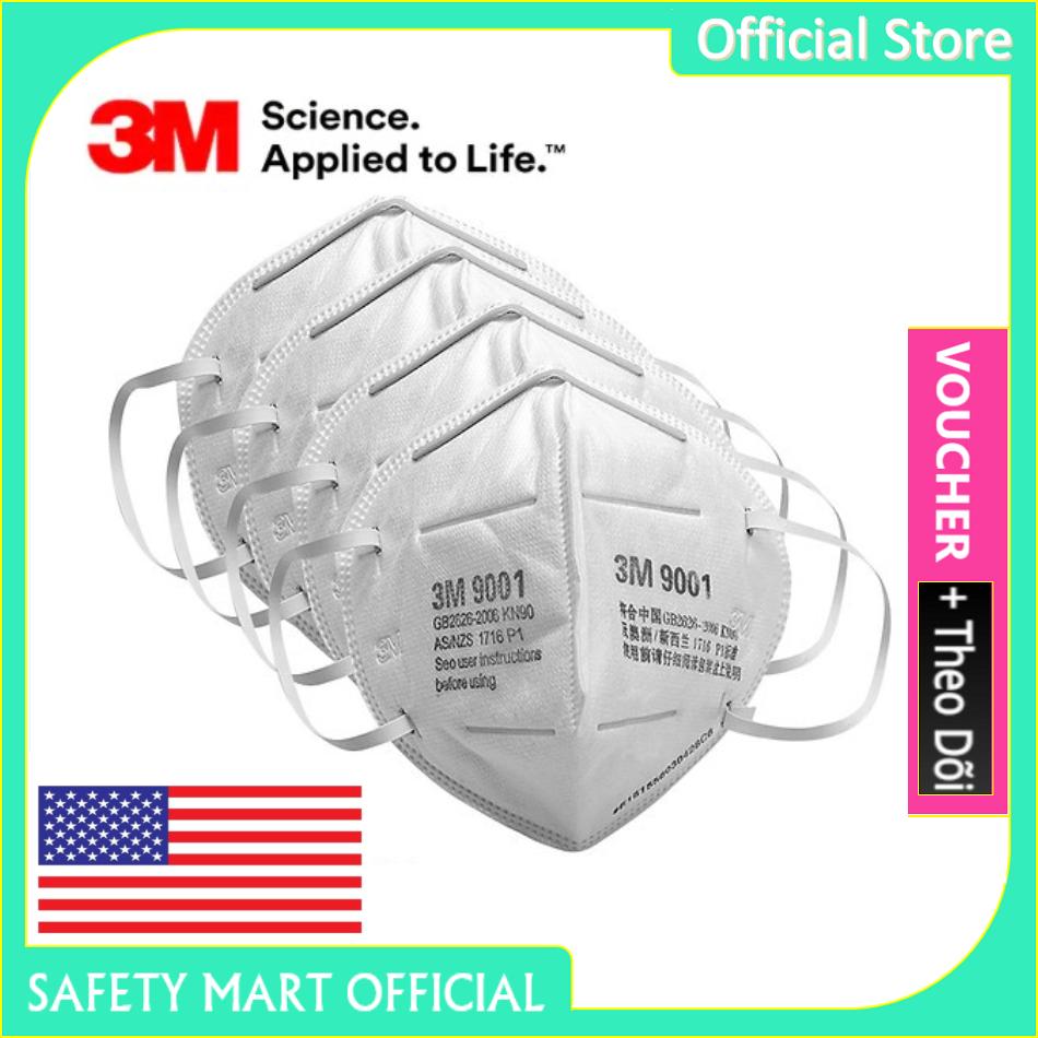 [RẺ VÔ ĐỊCH] Khẩu trang y tế 3M 9001 Khẩu trang 3D 4 lớp kháng viruss, chống bụi mịn, phòng dịch, khẩu trang 3M vải không dệt