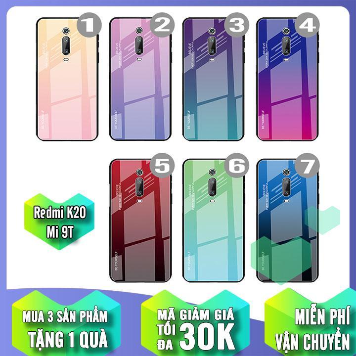 (7 MÀU) Ốp lưng cho Xiaomi Mi 9T / Redmi K20 gương cứng 2 màu Ver 2 , viền TPU dẻo đen
