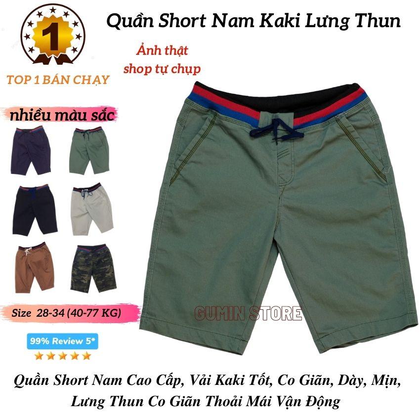 [HCM]Quần Short Nam Kaki Lưng Thun ❤️FREESHIP❤️ Quần Short Kaki Nam Chất co Giãn