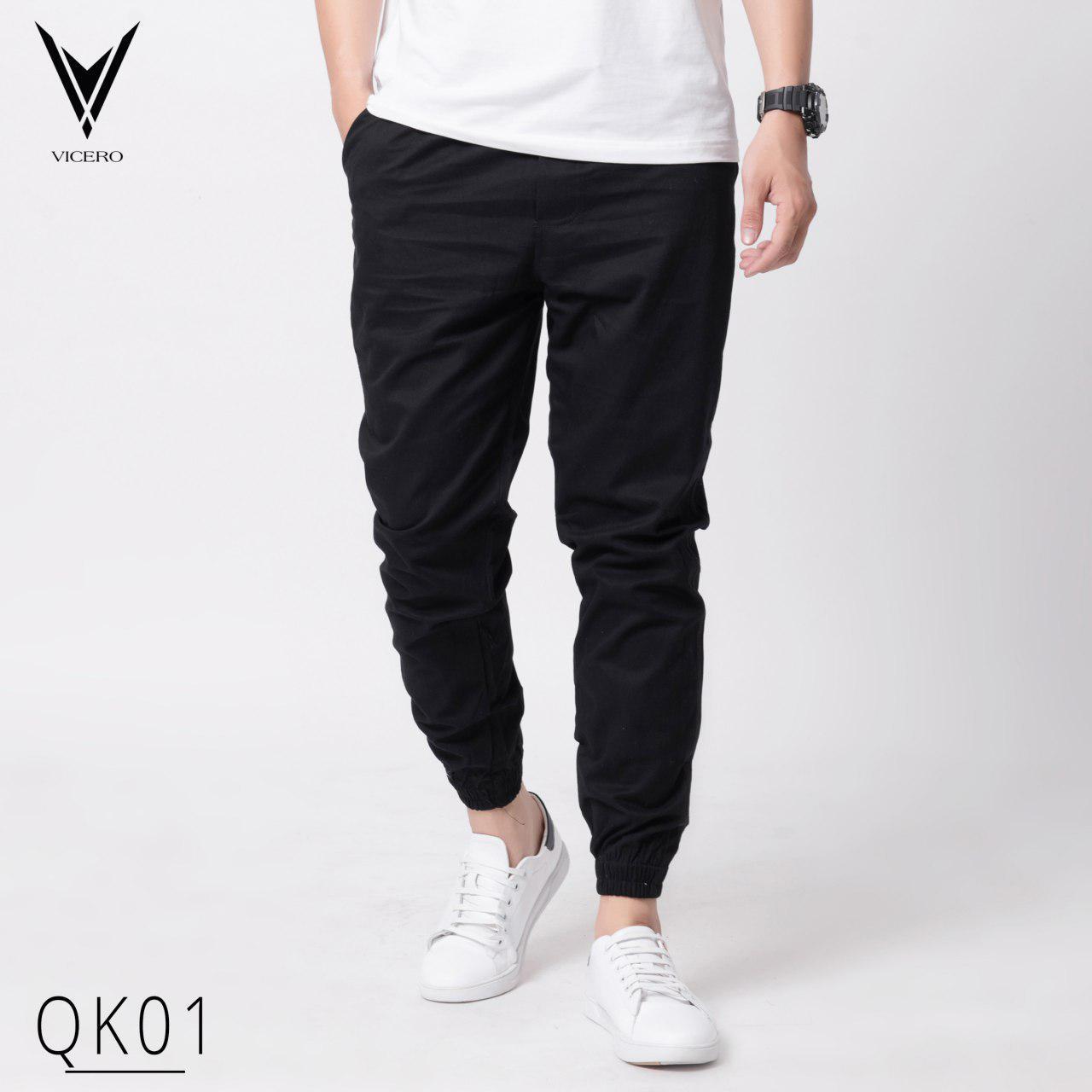 [Có video] Quần jogger nam vải kaki cao cấp thời trang Vicero phong cách hàn quốc trẻ trung, lịch lãm, dễ phối trang phục