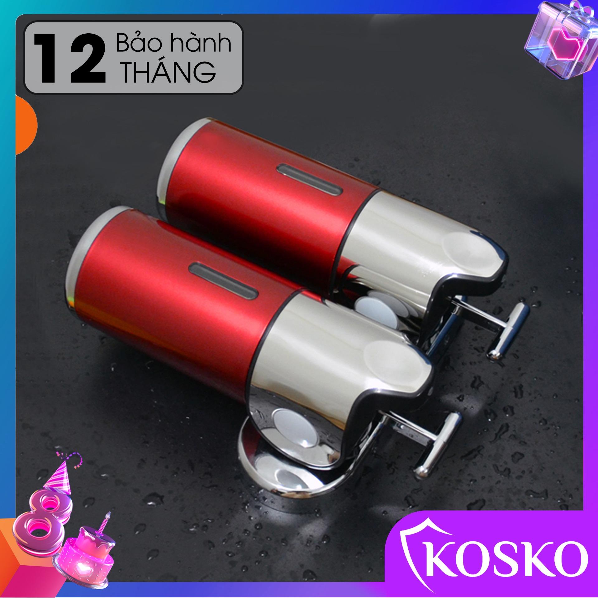Hộp đựng dầu gội sữa tắm gắn tường KOSKO mã GANGANG KGG-175ĐĐ Đỏ đôi, hộp đựng nước rửa tay lắp đặt dễ dàng - Sử Dụng Tiện Lợi (Bảo hành 12 tháng - 1 đổi 1 trong 15 ngày)