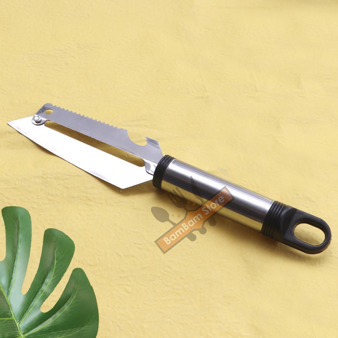 Dao inox đa năng cắt, bào, khui đồ hộp có móc treo tiện lợi cao cấp BL01 – BamBam Store