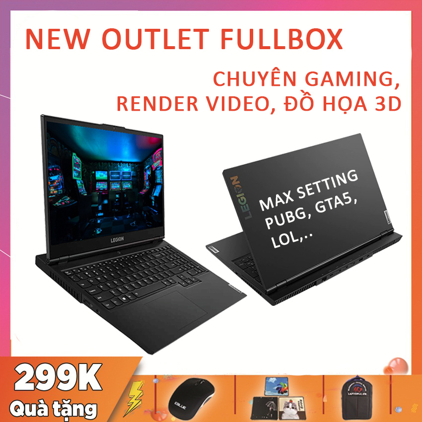 [Trả góp 0%](NEW SEAL 100%) Lenovo Legion 5 15ARH05 Ryzen R7-4800H RAM 16G SSD 256G NVMe VGA NVIDIA GTX 1660 Ti-6G Màn 15.6 Full HD IPS 144Hz 100% sRGB