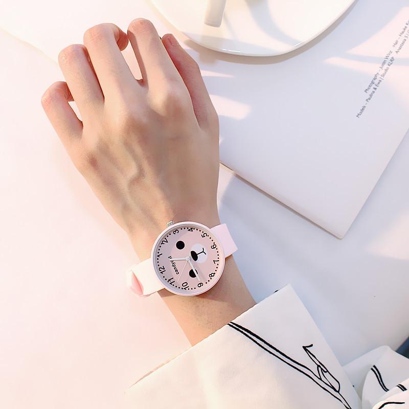 Đồng hồ hình gấu mập Candycat dây Silicon dẻo (tặng 1 pin dự phòng)