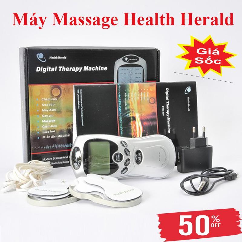 Máy Massage Xung Điện Health Herald-Thiết Kế Nhỏ Gọn, Tiện Lợi-Chất Nhựa PV Cao Cấp-12 Cường Độ Massage Khác Nhau-4 Miếng Dán Điện Cực-Kết Dính Tốt-Công Nghệ Massage Thông Minh-Phù Hợp Với Nhiều Đối Tượng Sử Dụng-Bảo Hành 6 Tháng Bởi SUN GROUP