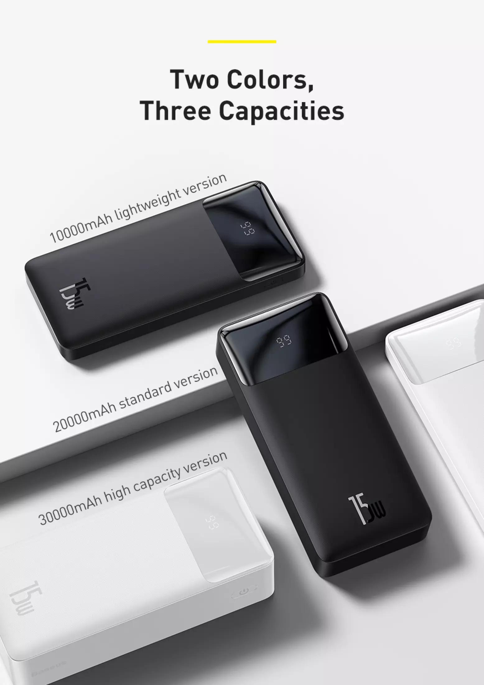 Pin sạc dự phòng Baseus dung lượng 10000mAh công suất 15W hoặc 20W, màn hình LED hiển thị, sạc nhanh QC, PD cho iPhone, Samsung, Xiaomi,....-Phân phối chính hãng tại Baseus Việt Nam 10