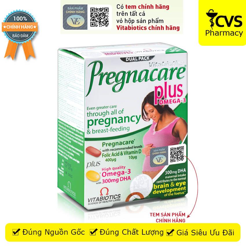 [HCM]Vitabiotics Pregnacare Plus - Viên Uống Bổ Sung Vitamin & Khoáng Chất Thiết Yếu Trước & Trong Khi Mang Thai -cvspharmacy