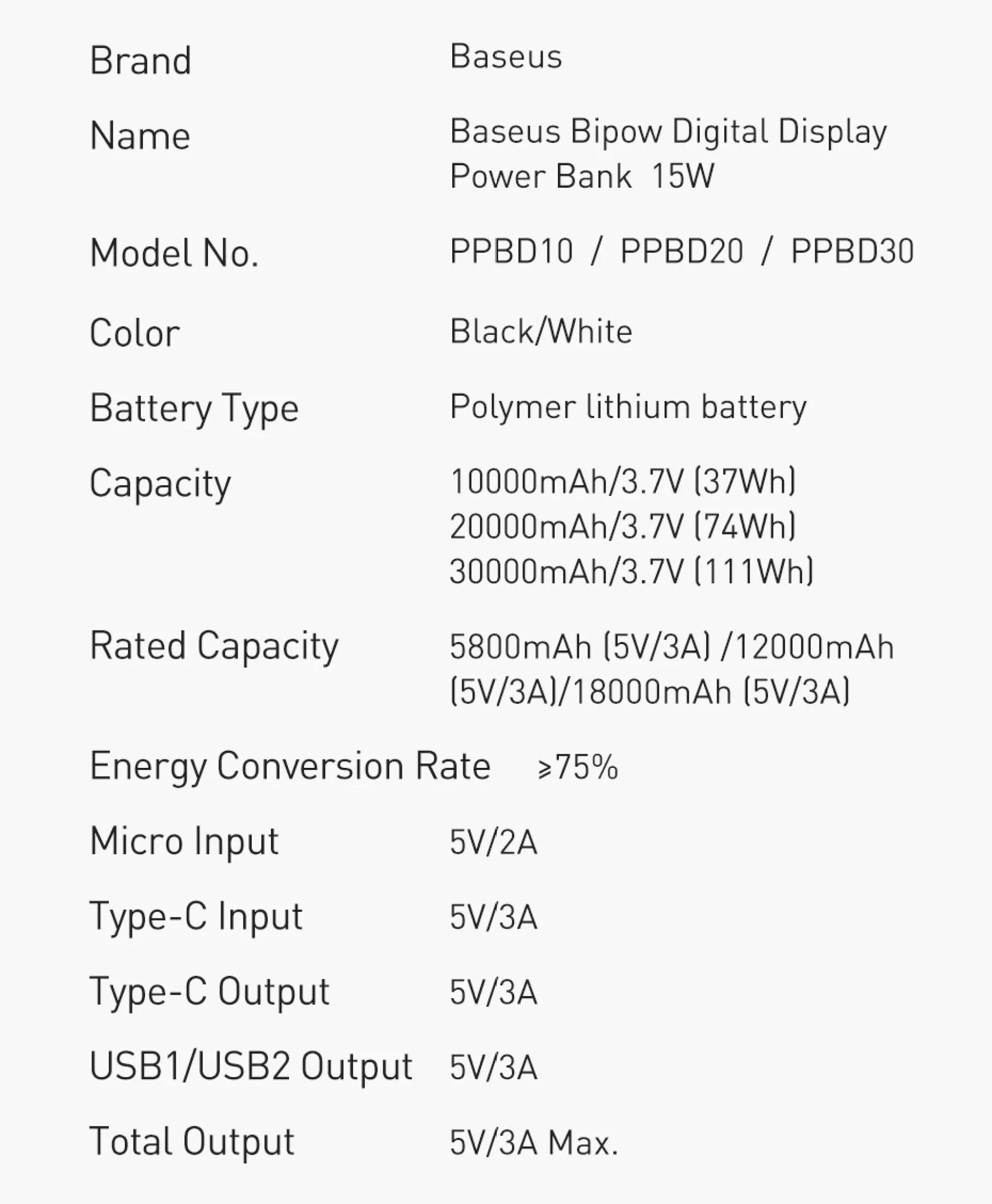 Pin sạc dự phòng Baseus dung lượng 10000mAh công suất 15W hoặc 20W, màn hình LED hiển thị, sạc nhanh QC, PD cho iPhone, Samsung, Xiaomi,....-Phân phối chính hãng tại Baseus Việt Nam 12