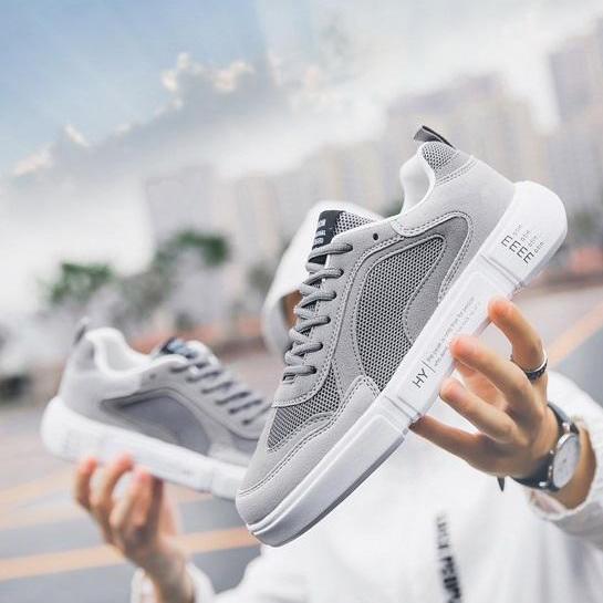 ✅ [ SNEAKER HOT ] Giày SNEAKER G26 ( Xám ) Thể Thao/Giày Nam hiện đại , cá tính, đẹp độc lạ, chất thoáng mát, phong cách Hàn Quốc mẫu mới nhất 2019 - TỔNG KHO GIẦY NHẬP KHẨU