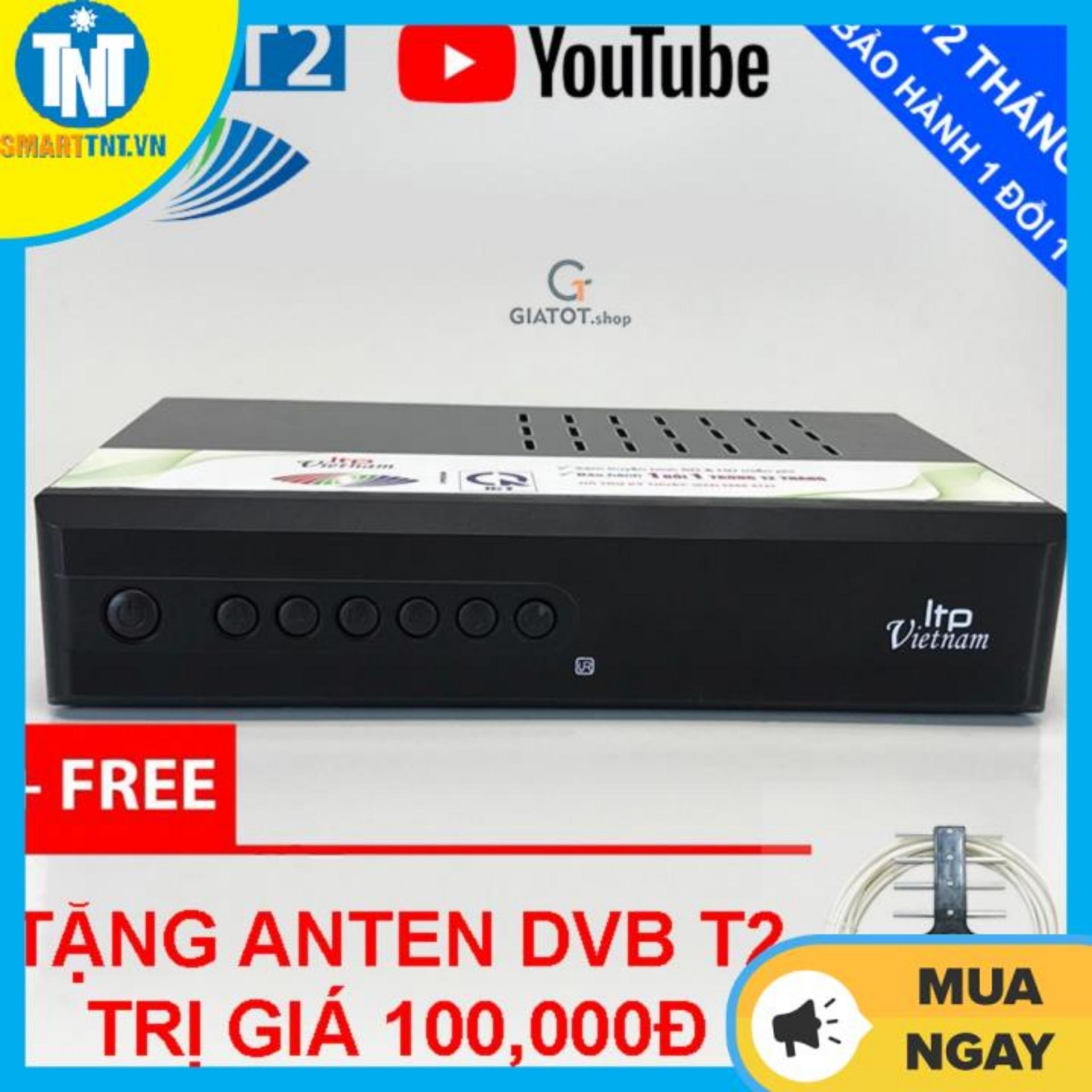Đầu thu kỹ thuật số DVB T2 LTP STB-1406 tặng Anten DVB T2