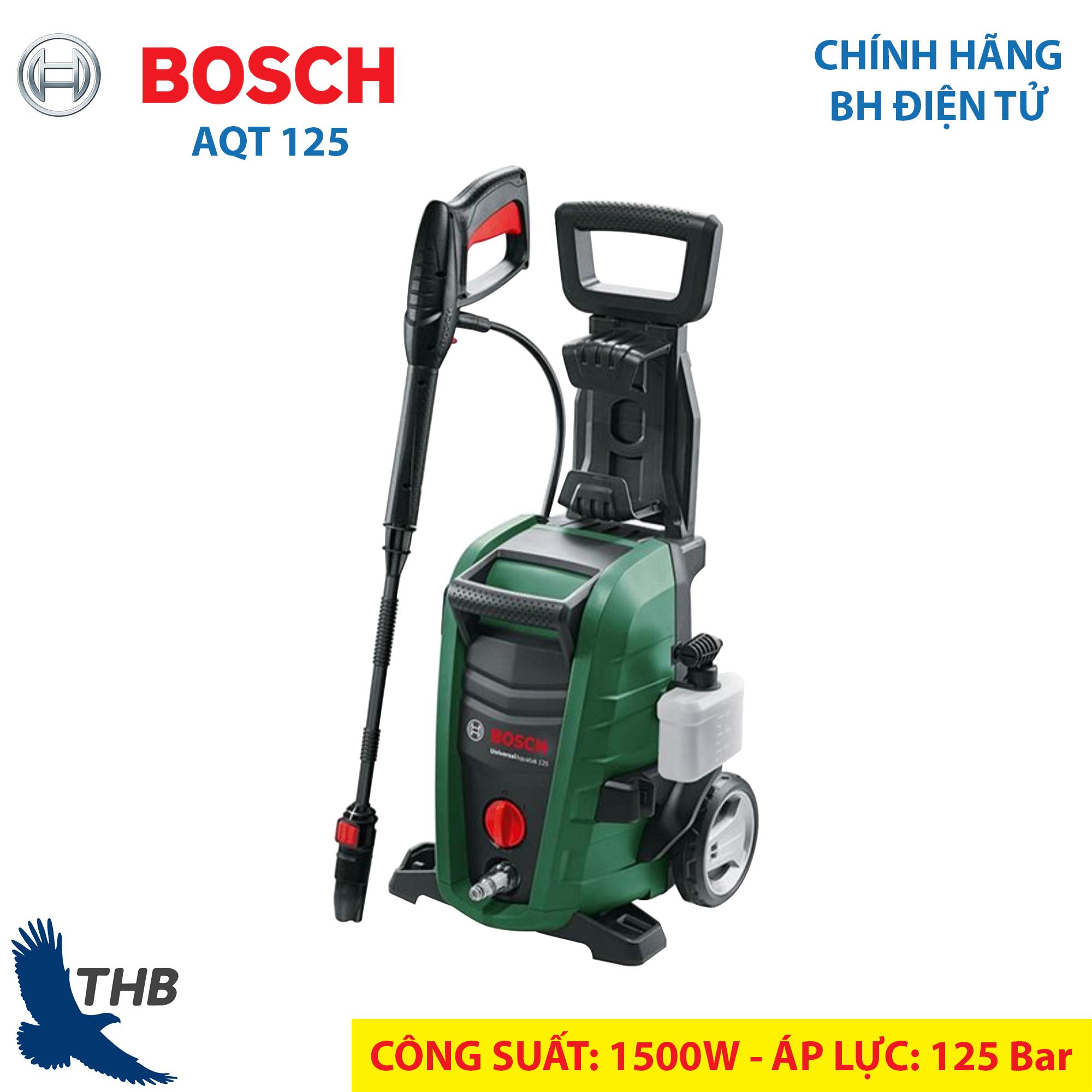 Máy rửa xe gia đình Bơm phun xịt rửa Bosch Easy Aquatak AQT 120 Áp lực 120  Bar Bảo hành điện tử 6 tháng Chất lượng Đức