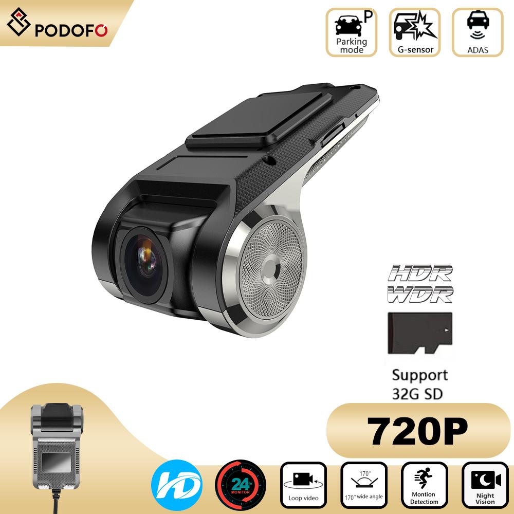 Camera DVR Tự Động HD 720P Máy Đăng Ký Video USB Camera Hành Trình Nhìn Ban Đêm Cho Máy Phát Nhạc Xe Hơi Android