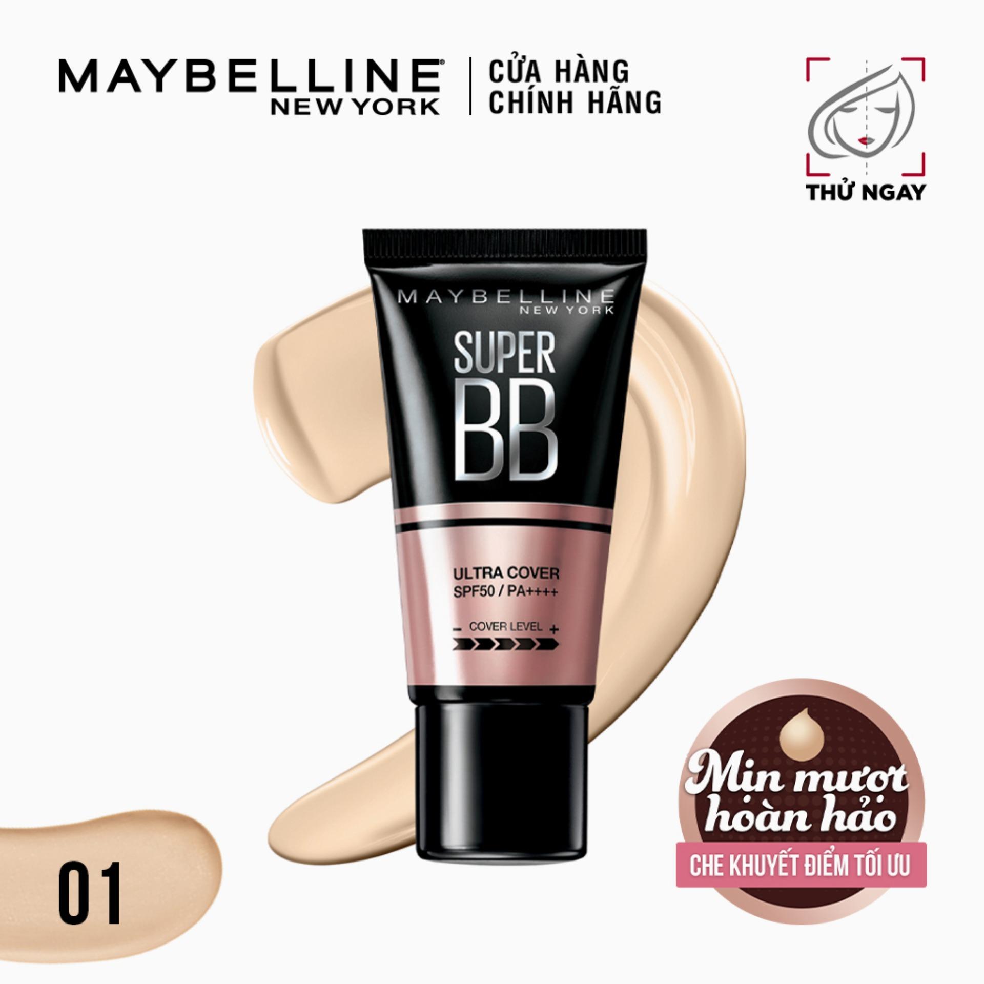 Kem trang điểm BB che khuyết điểm và chống nắng Maybelline New York Super BB Ultra Cover SPF 50 PA++++