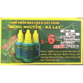 1 Hộp Phân bón Hùng Nguyễn (10 chai) cho hoa Lan