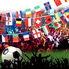 100X Countries String Flag 25M International World 82ft Bar Party Bunting - intl