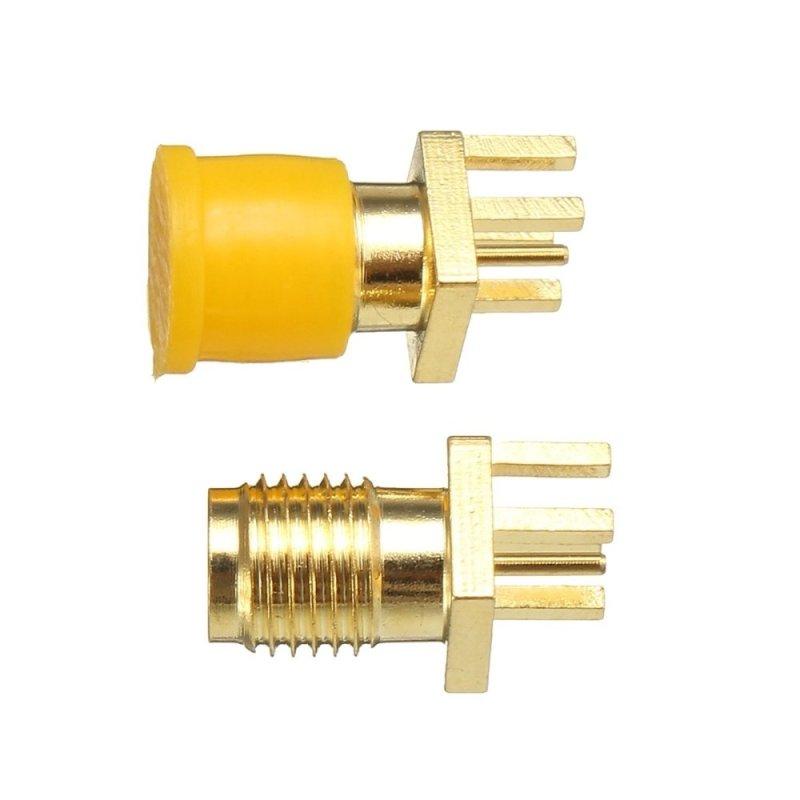 Bảng giá Mua 10pcs RP-SMA Female Plug Bulkhead Solder Edge PCB Clip Mount RF Connector - intl