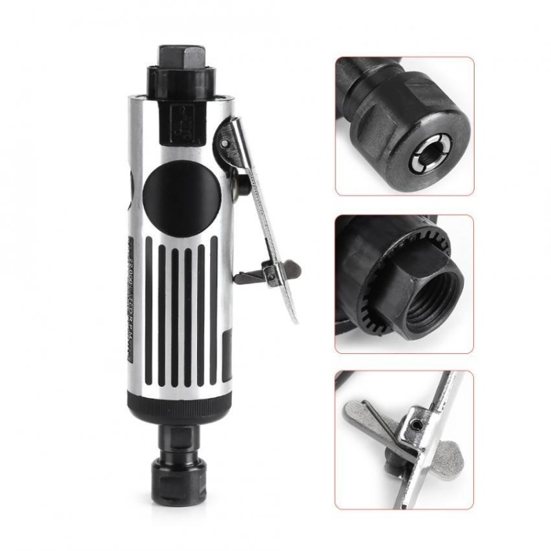 1/4 Air Angle Die Grinder Cut Off Polisher Pneumatic Cleaning Cutting Tool - intl