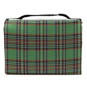 "150*80cm/59""x31"" oxford cloth outdoor camping folding picnic mat crawling mat / moisture pad / beach mat Green Plaid - intl"