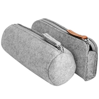 2 PCS 2 Style Fashion Felt Pencil Case Bag Pen Eraser Ruler Pouch Holder School Supplies for Students Writers Painters - intl