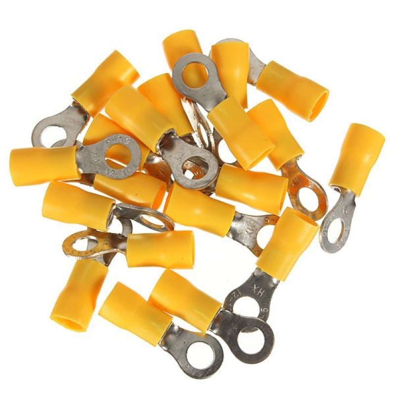20PCS Yellow Ring Heat Shrink Electrical Wiring Crimp Butt Terminal Connectors M5 (Intl)