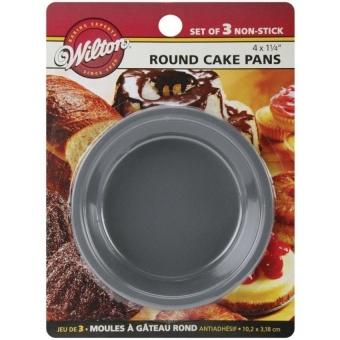 2105-1829 Mini Round Pans, 10.2Cm By 3.2Cm , Set Of 3 - intl