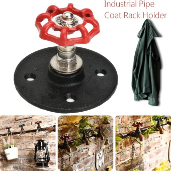 "2.2"" Loft Industrial Retro Iron Pipe Wall Hooks Towel Rack Hangers Thread 3/4"" - intl"