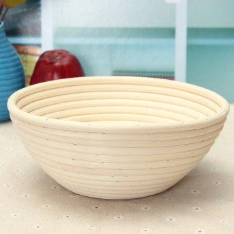 "22cm/8.6"" Round Banneton Brotform Dough Bread Proofing Proving Rattan Basket E78 - intl"