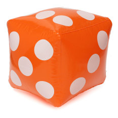 30*30cm Giant Inflatable Air Number Dice Outdoor Beach Toy Party Garden Game - Intl