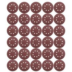 30X 5 8 Hole 80 Grit Sand Disc Paper Random Orbit Sandpaper Sheet Sander - intl